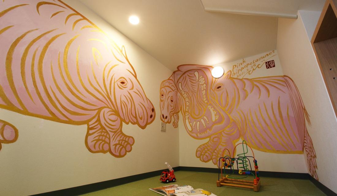 〈Pink hippopotamuses〉