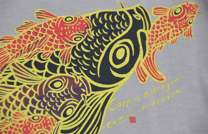 Carp is Dragon in Heaven L/S