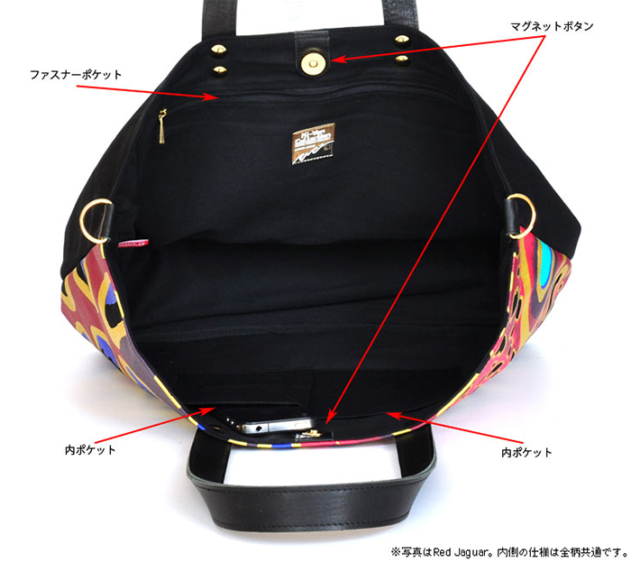 Collection Tote LEATHERのインナー