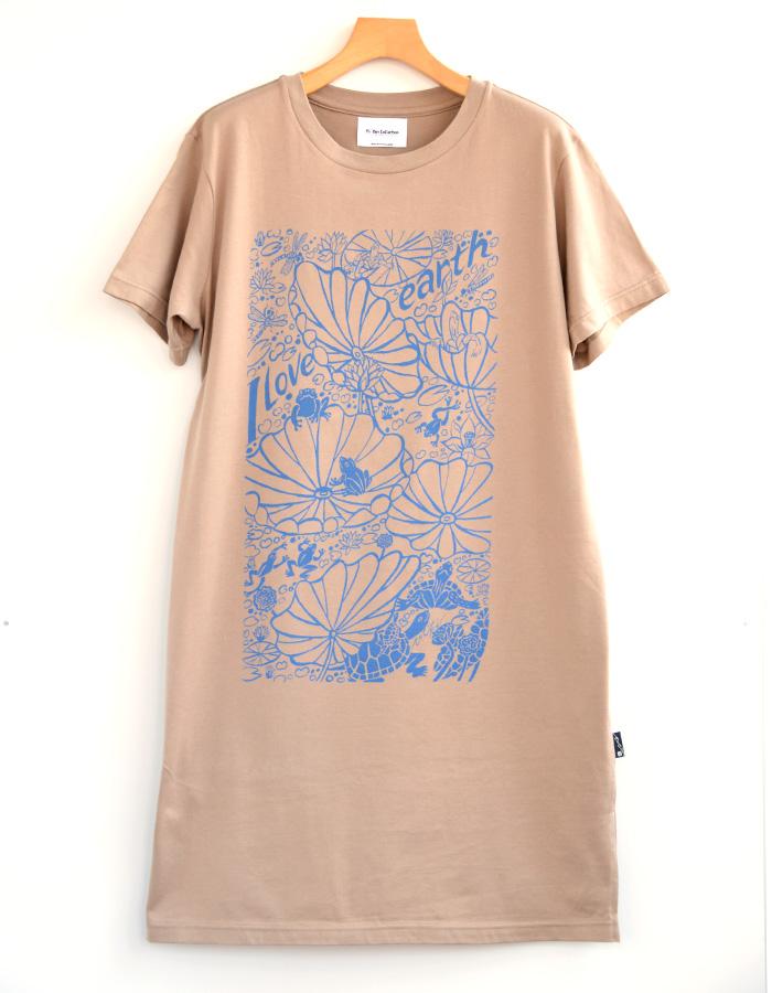 Tシャツワンピース ILoveearth